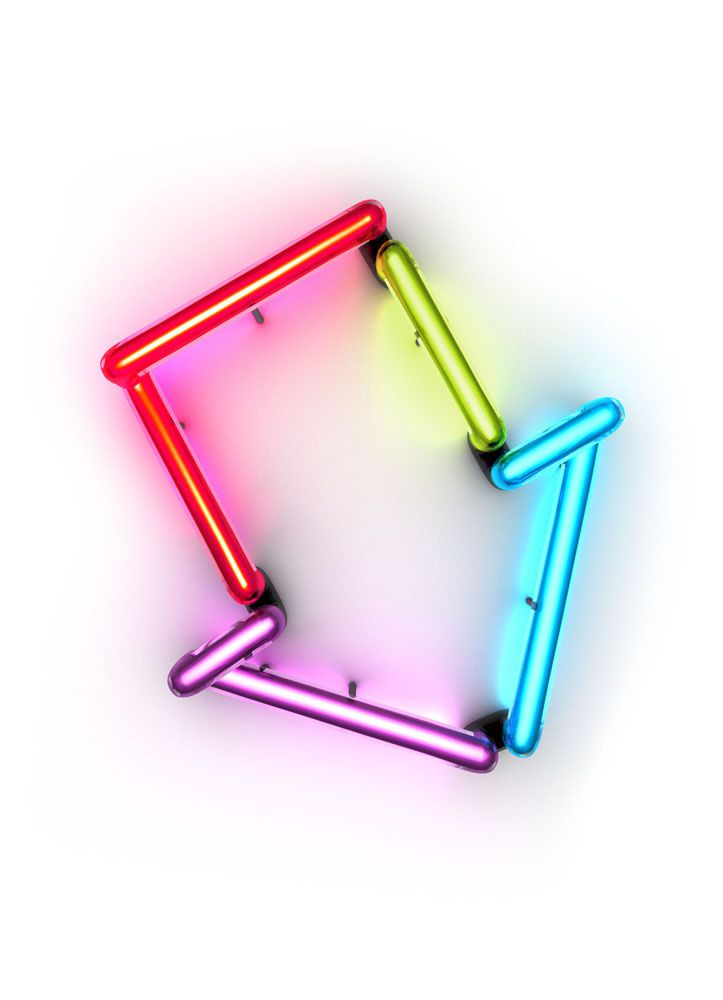 3D Arrow Neon LIghts Advertising Illustration