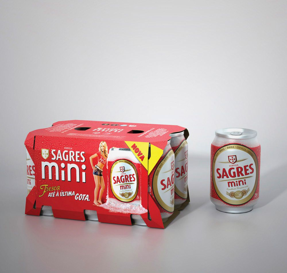 3D Drink Cans Lager Advertising Illustration