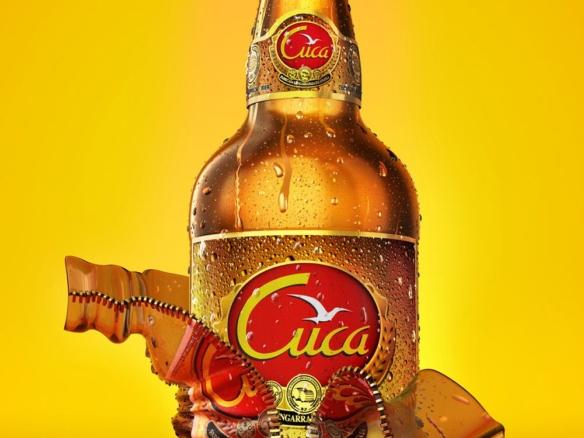 3D Liquids Cuca Lager Bottle Product Illustration