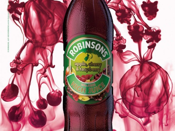 3D Liquids Robinsons Fruit Juice Drinks Bottles Product Illustration