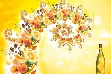 3D Liquids Rosemount Fruit Wine Bottle Advertising Animation