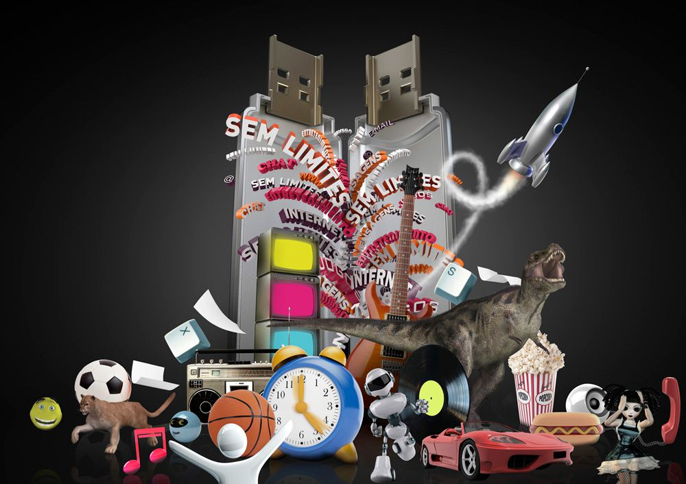 3D Toys and Gifts Advertsing Illustration