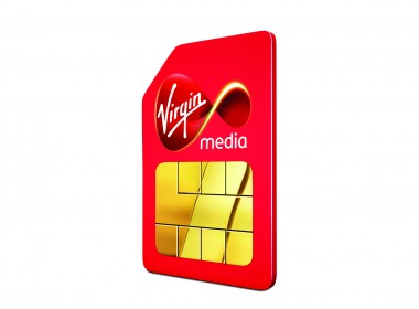 3D Virgin Sim Card Product Advertising Illustration
