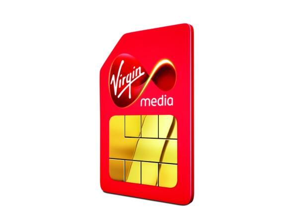 3D Virgin Sim Card Product Advertising Illustration