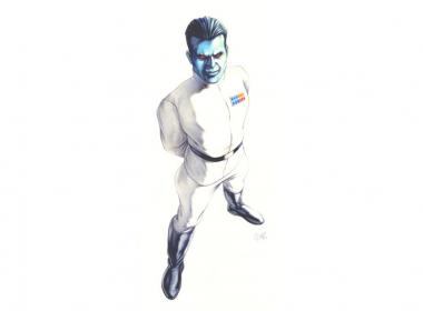 2D Alien Captain Illustration