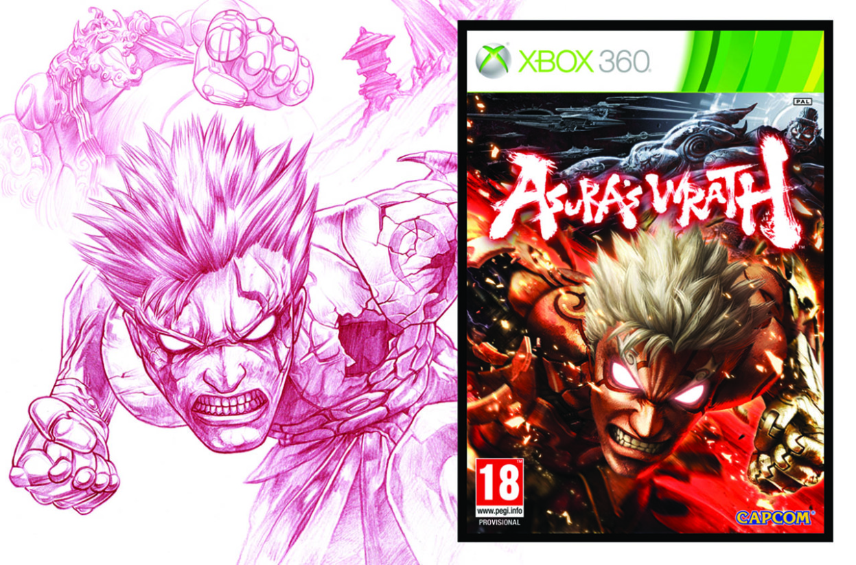 2D Asuras Wrath Character Illustration