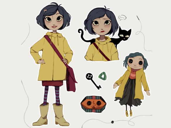 2D Coraline Character Illustration