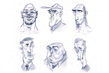 2D Facial Expressions Character Illustration