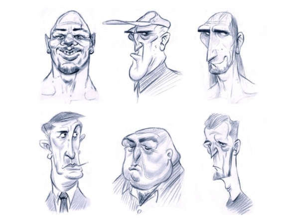 2D Facial Expressions Character Illustration