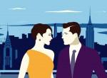 Happy Couple 2D Vector Illustration