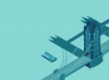 Tower Bridge 2D Vector Illustration