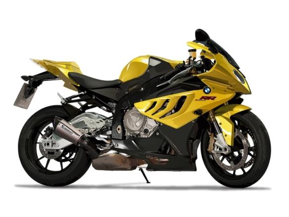 2D BMW Motorbike Vector Automotive Illustration