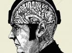 2D Black and White Brain Illustration