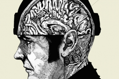 2D Black and White Brain Illustration
