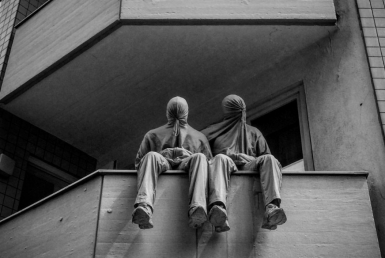 2D Black and White Men Sacked Photography