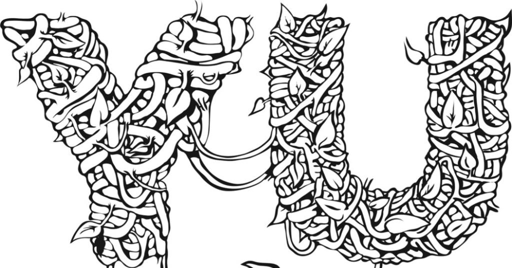 2D Black and White Yuck Logo Illustration