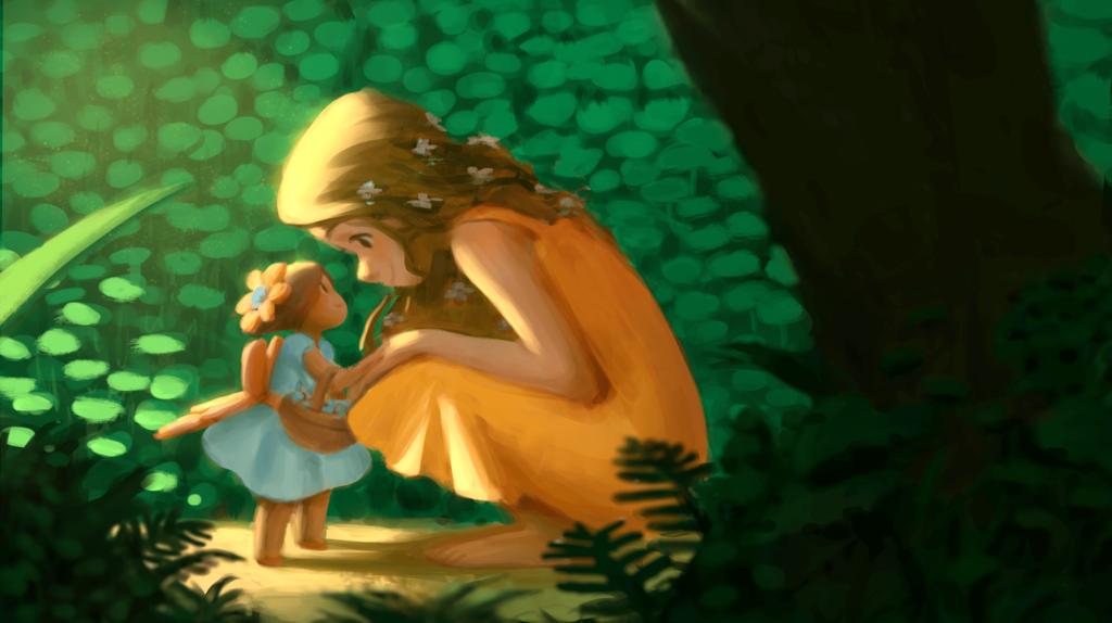 2D Fairy Character Illustration