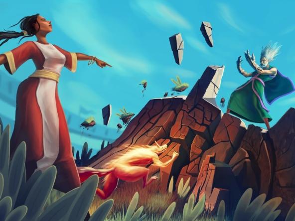 2D Fantasy Game Cartoon Illustration