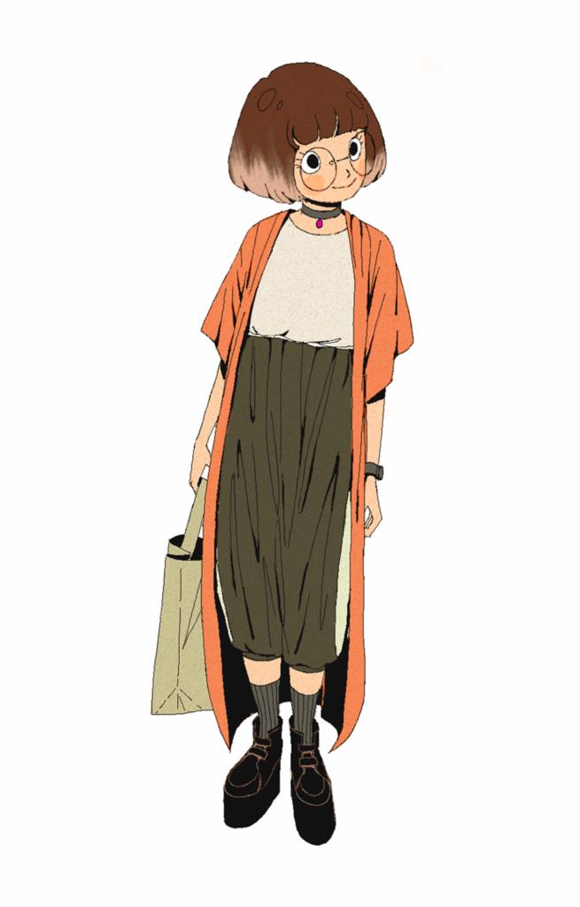 2D Fashion Design Character Illustration