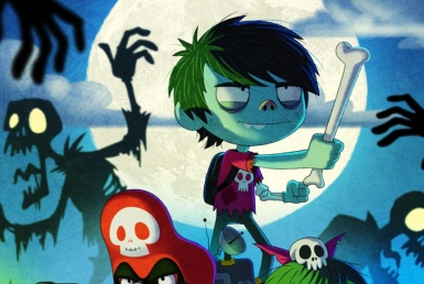 2D Foster Zombie Brothers Cartoon Illustration