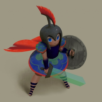 2D Gladiator Character Illustration