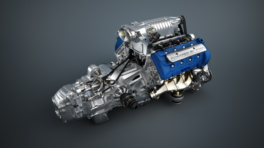 3D Car Engine Illustration