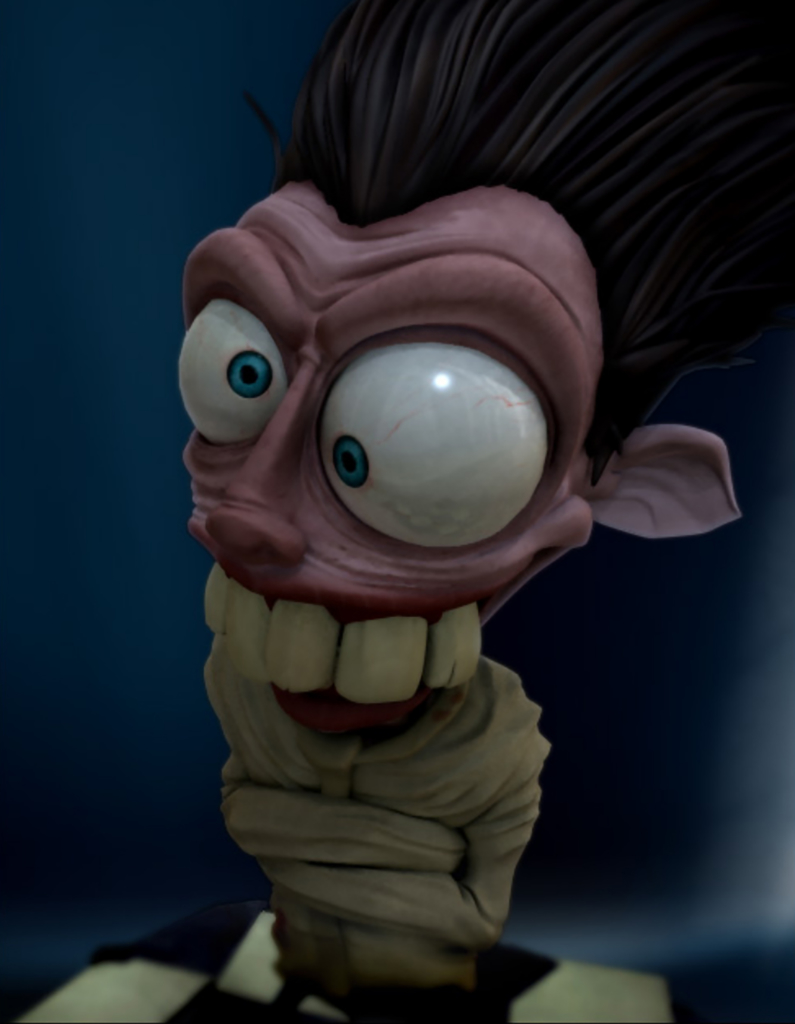 3D Crazy Man Character Illustration