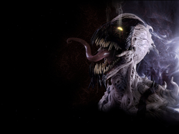 3D Marvel Anti Venom Character Illustration