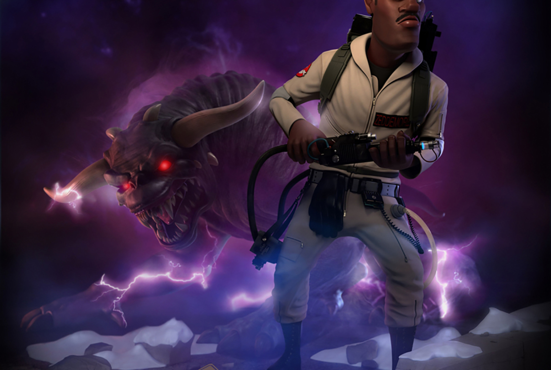 3D Winston Zeddemore Ghostbusters Character Illustration