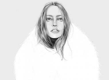 2D Beauty Model Fashion Illustration