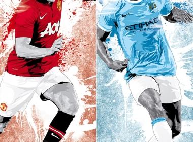 2D Football Player Graphic Digital Illustration