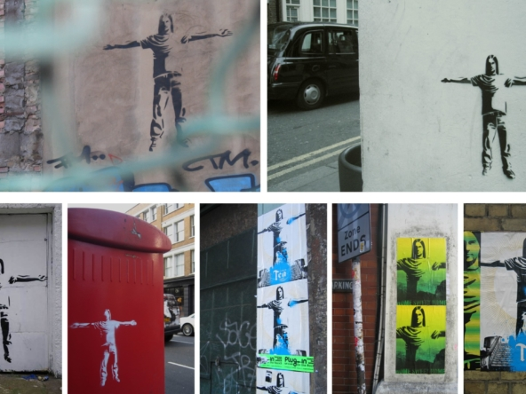 2D Graffiti Stencil For Drinks Advertising Campaign