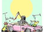 2D Graphic Graffiti Style Death Cab Illustration