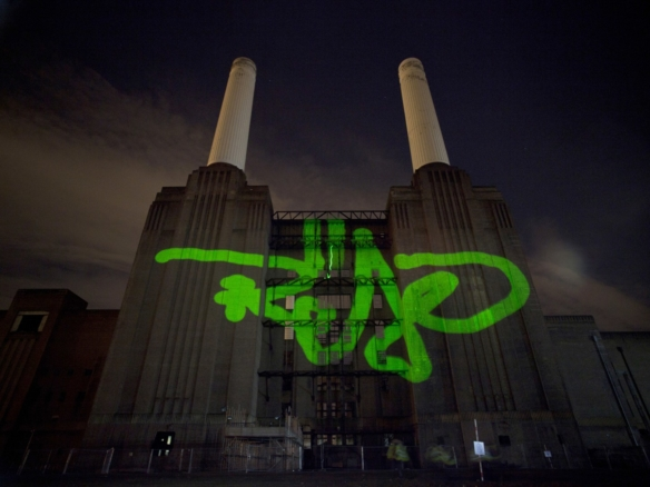 2D Graffiti tag Projection Mapping