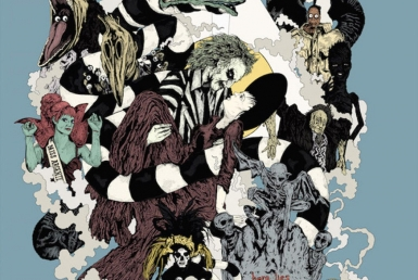 2D Graphic Collage Beetlejuice Movie Digital Illustration