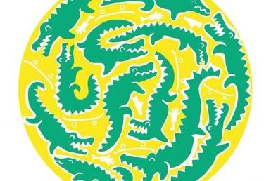 2D Graphic Crocodiles Digital Illustration