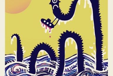 2D Graphic Sea Monster Digital Illustration