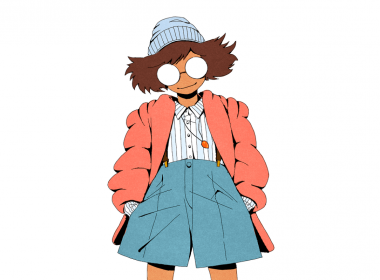 2D Hipster Outfit Fashion Illustration