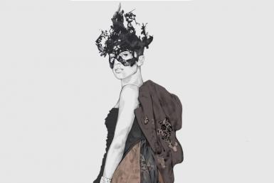 2D Masked Ball Female Fashion Illustration Featured Image