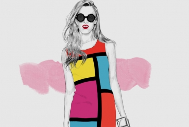 2D Pop Art Dress Fashion illustration