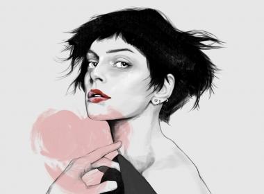 2D Seductive Female beauty Model Fashion illustration