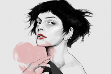 2D Seductive Female beauty Model Fashion illustration