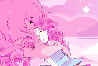 2D Steven Universe Rose Character Illustration