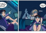 2D Web To Go Girls Night In Comic Illustration