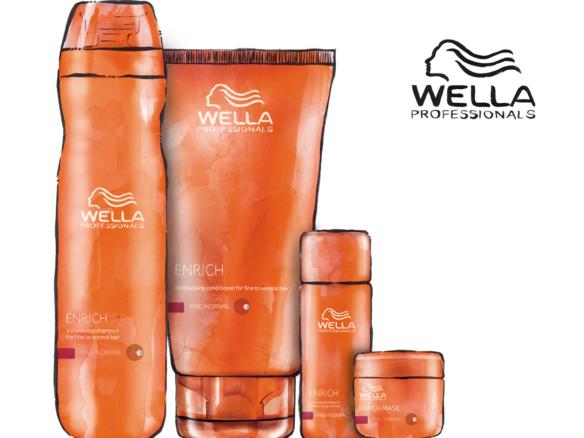 2D Wella Bottle Range Product Illustration