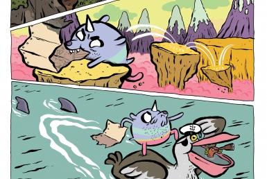 2D Adventure Time Comic Book Illustration