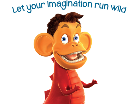 3D Animalgamation Monkeysaurus Jelly Sweets Product Illustration Thumbnail