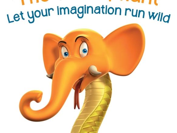3D Animalgamation Snakephant Jelly Sweets Product Illustration Thumbnail