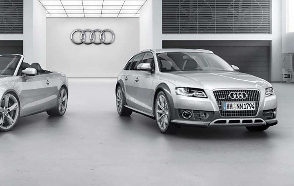 3D Audi Showcase Automotive Illustration Thumbnail