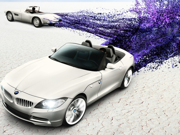 3D BMW 507 Z4 Series Car Illustration Thumbnail
